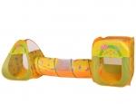 Домик-палатка + 100 шаров Бабочки (3в1) - Ching-Ching Дом + 100 шаров БАБОЧКИ (квадрат+туннель) 85х85х100см