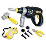 Набор инструментов - Набор инструментов (электрошуруповерт,  плоскогубцы, винты, защитная маска и молоток)