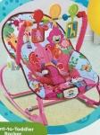 """Кресло-качалка """"Розовый слоник"""", второй чехол в подарок"""