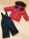 Комплект 3в1 (полукомбинезон,куртка, флиска) -