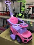 Каталка МЕГА с бампером (розовая) - Chilok BO Машина/Каталка МАШИНКА  МЕГА с бамп.(муз.панель) 3-6 лет красный  RED 381