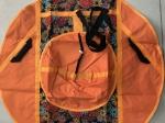 Тюбинг (ватрушка), 110см, хохлома оранж