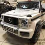 Электромобиль Mercedes (белый) - Mercedes-Benz Gelandewagen