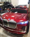 !Электромобиль BMW X7 (бордовый)