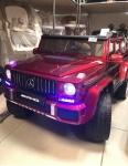 Детский электромобиль Мерседес Пикап 4*4 (бордовый)