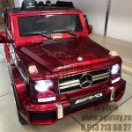 Mercedes элетромобиль G63 AMG (бордовый) -
