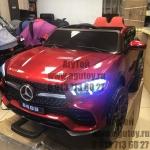 Детский электромобиль Мерседес GLE (бордовый)
