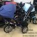 Велосипед T400 с панелью трехколесный (синий)